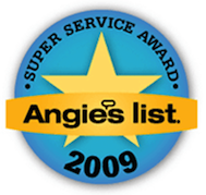 2009 Foundation Repair Super Service Award from Angieslist