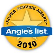 2010 Earthquake Retrofitting Super Service Award from Angieslist