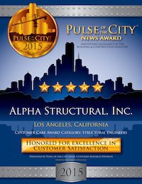 Alpha Structural's 2015 Pulse of the city award