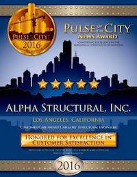 Alpha Structural's 2016 Pulse of the city award