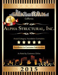 Alpha Structural's Foundation Contractors Talk of the Town award 2015